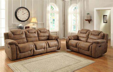 Homelegance Hoyt Reclining Sofa Set Brown Microfiber Microfiber Reclining Sofa Sets