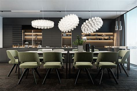 dark dining room modern dining room design with dark color concepts