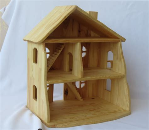 Handcrafted Dollhouse - handmade wooden dollhouse
