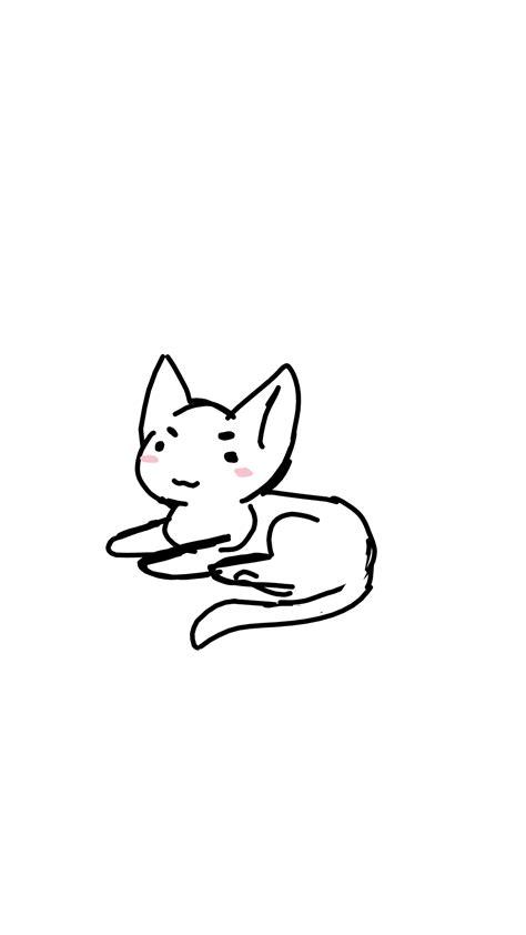 drawing doodle cat 1 doodle gifs wifflegif