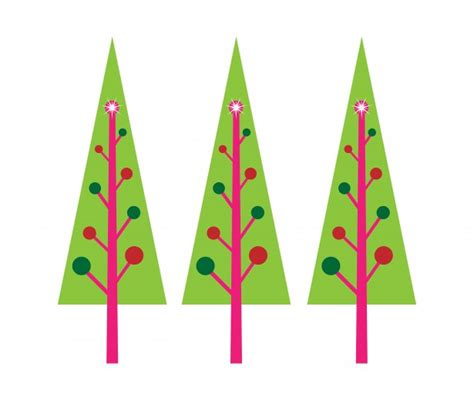 modern christmas tree clip art clipart best
