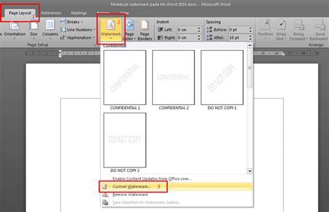 membuat watermark di word 2010 cara membuat watermark di word 2010 catatan sang pemula