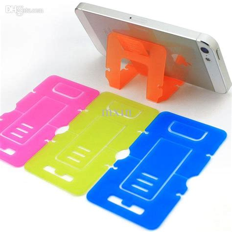 credit card phone stand template discount portable plastic foldable credit card mobile cell
