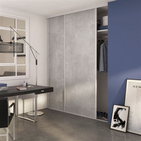 Impressionnant Porte Cuisine Leroy Merlin #1: porte-de-placard-coulissante-beton-spaceo-250x98cm.jpg