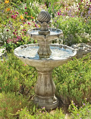 Sun Powered Cascade Fountains by Solar Pineapple Buy From Gardener S Supply