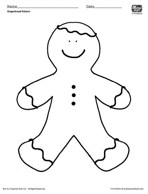 gingerbread man coloring sheet  pattern    teacher