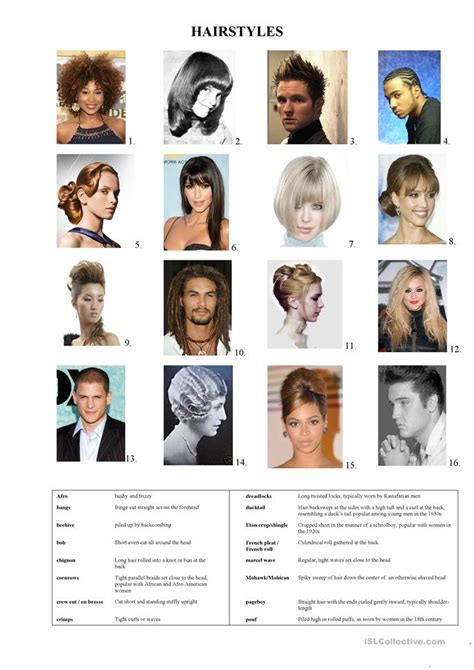 hair style esl hairstyles worksheet free esl printable worksheets made