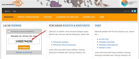 cek resi kantor pos cara mengirim dokumen surat di kantor pos indonesia