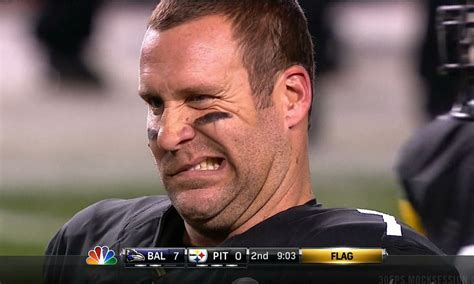 Roethlisberger Memes - ben roethlisberger got popped in the jaw then turned into