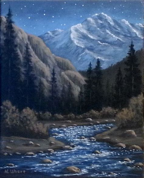 paint nite mountain view 17 best images about mountain paintings on