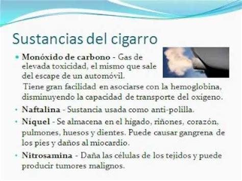 Que Sustancias Tiene El Cigarro Y Sus Efectos Perjudiciales | que sustancias tiene el cigarro y sus efectos