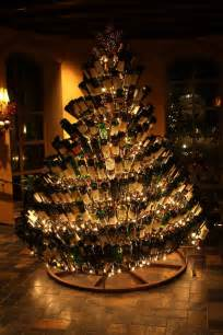 wine bottle christmas tree grapefriend