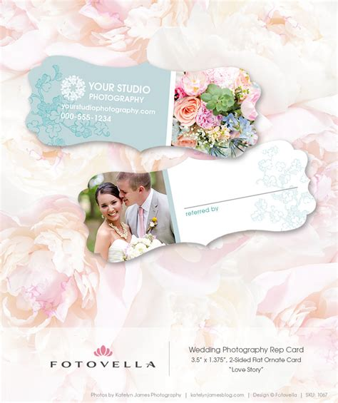 photography referral card templates wedding photography marketing referral card template by