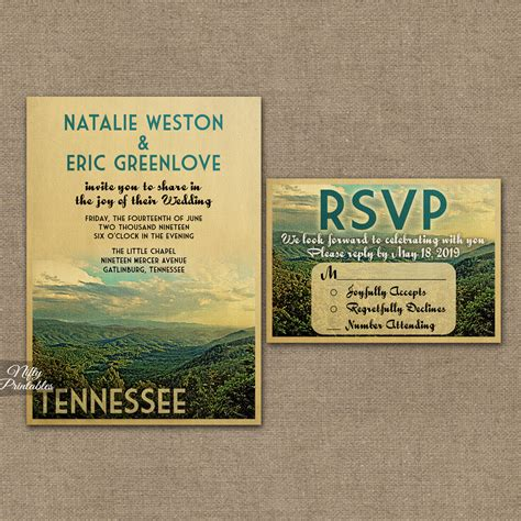 wedding stationery tn tennessee wedding invitations smoky mountains vtw nifty printables