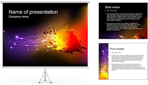 Explosion Powerpoint Template Backgrounds Id 0000002975 Smiletemplates Com Explosion Animation For Powerpoint
