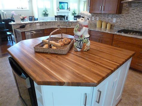 Teak Countertop by Teak Custom Wood Countertops Butcher Block Kitchen