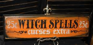 Halloween Decorations Signs Witch Spells Sign Curses Extra Wood Sign By