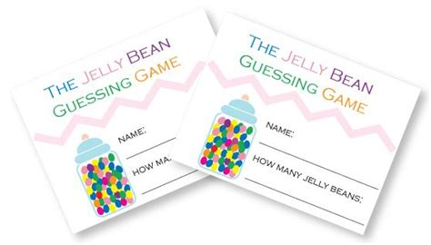guess my number printable cards free printable jelly bean guessing game cards baby