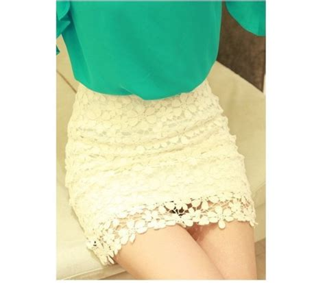 skirt retro floral high waisted white lace skirt high