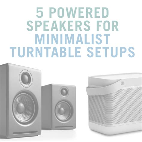 minimalist computer speakers beginner s guide to turntable setups turntablelab