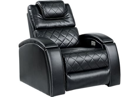 crescent valley black power recliner reclining contemporary polyester