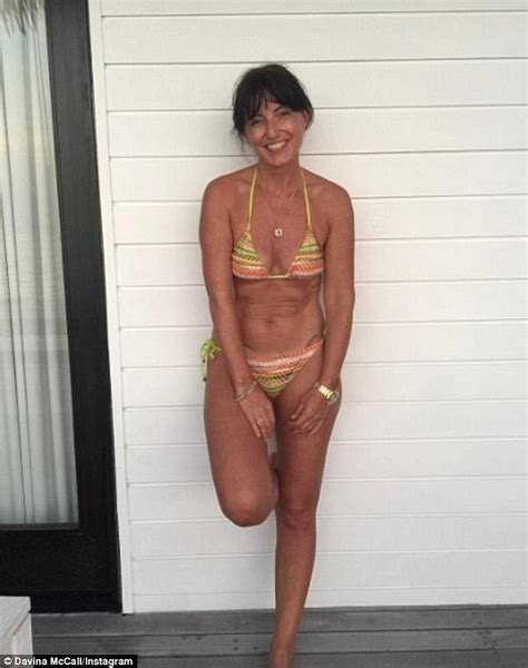 mature slim women with silky pubic hair davina mccall 49 flashes toned figure in skimpy bikini