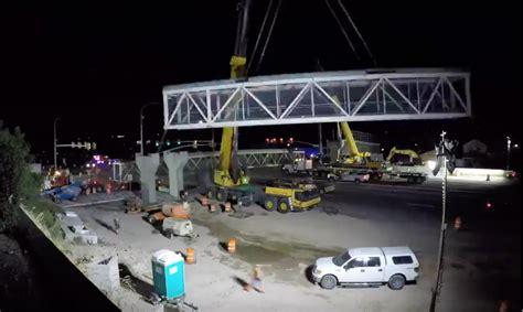 video udot removes pedestrian bridge  bangerter hwy