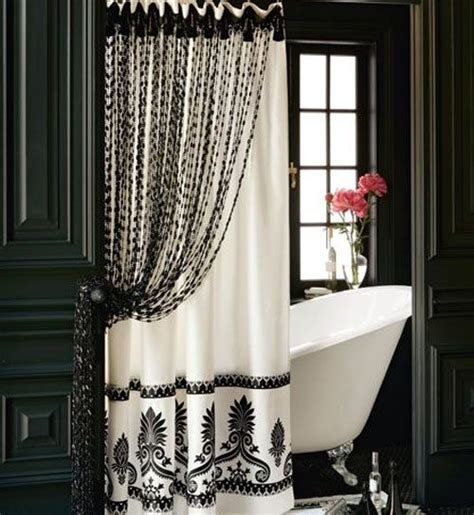 black and white beaded curtains bathroom with curtains of black and white