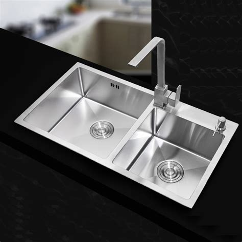 Handmade Kitchen Sinks - 710 420 220mm stainless steel undermount kitchen sinks
