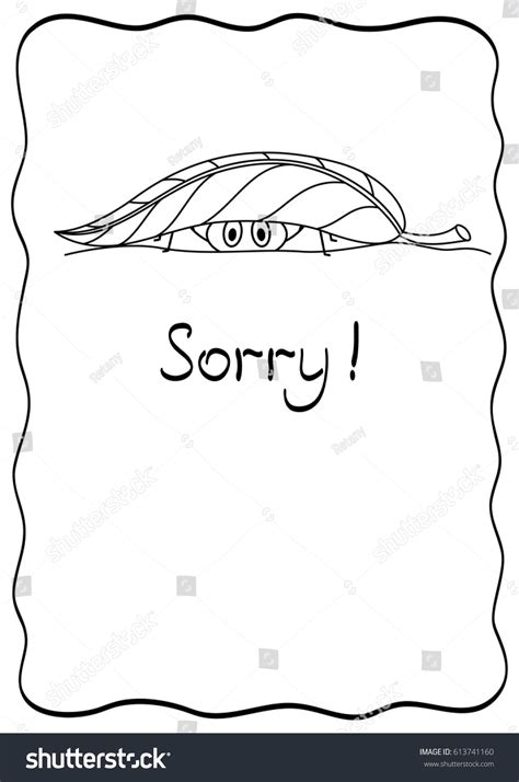 sorry comic postcard spider design template stock vector