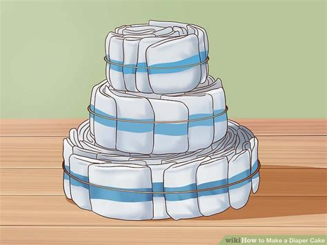 How To Make A Cake From Diapers For Baby Shower by The Best Ways To Make A Cake Wikihow