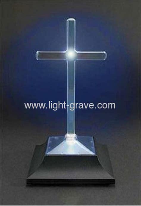 solar cemetery vigil lights cross memorial eternal light solar grave light solar