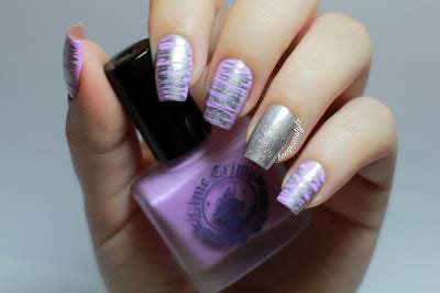 easy nail art with fan brush lacquerstyle com lime crime lavendairy fan brush nail art