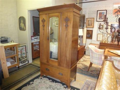 antique oak armoire with mirror antique oak single door beveled mirror armoire wardrobe