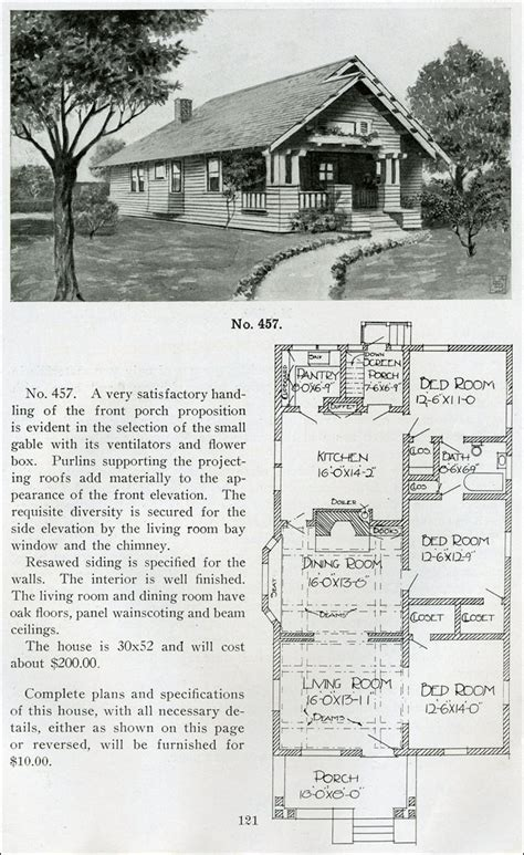 1910 house plans standard little bungalow henry wilson 1910 small house