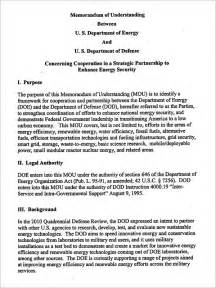 Template For A Memorandum Of Understanding by Memorandum Of Understanding Template 9 Free