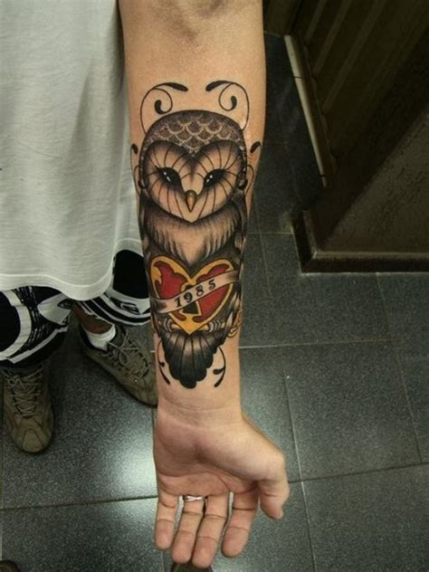 tattoo owl on arm 40 cool owl tattoo design ideas with meanings