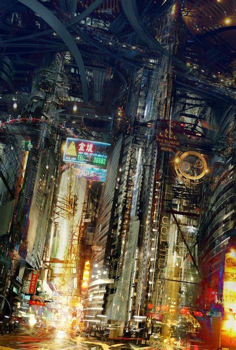 cyberpunk city concept environment sci fi concept art 17 best images about level design sci fi urban on