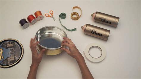como decorar una caja redonda de galletas video transforma una caja met 225 lica en un costurero youtube