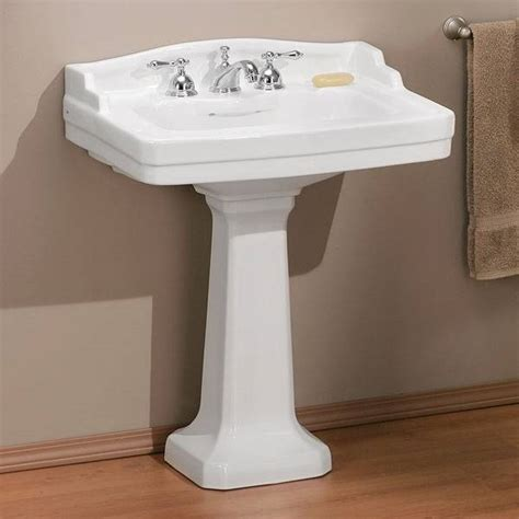 Sink Faucets Kitchen by Cheviot 553w 24 4 Essex Pedestal Sink White Lowe S Canada