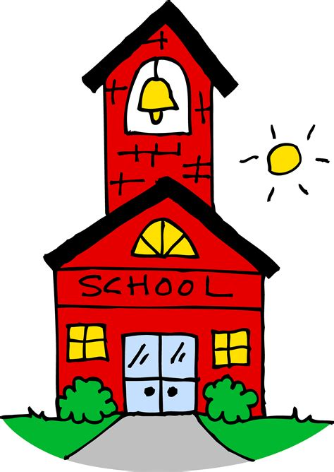 clipart school school house clip clipartion
