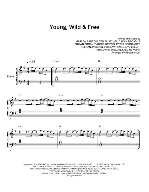 tutorial piano young wild and free music sheet free born free top piano sheet music sheet