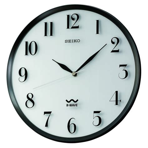 wall clocks r wave atomic wall clock seiko clocks