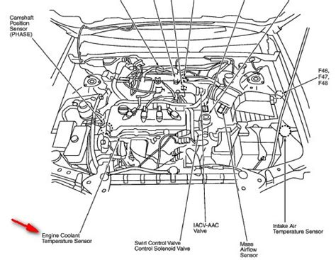 2000 nissan maxima radiator fan not working where is located the sensor on the nissan altima