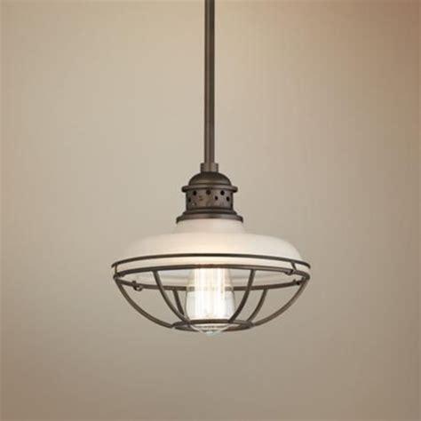 mini pendant lights for kitchen franklin park bronze 8 1 2 quot wide white glass mini pendant