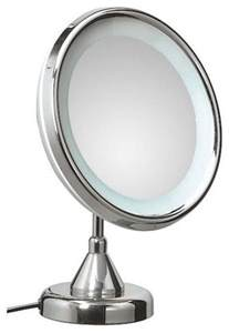 lucciolo free standing magnifying cosmetic mirror with