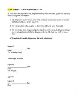 sample delegation letter 9 free documents download in