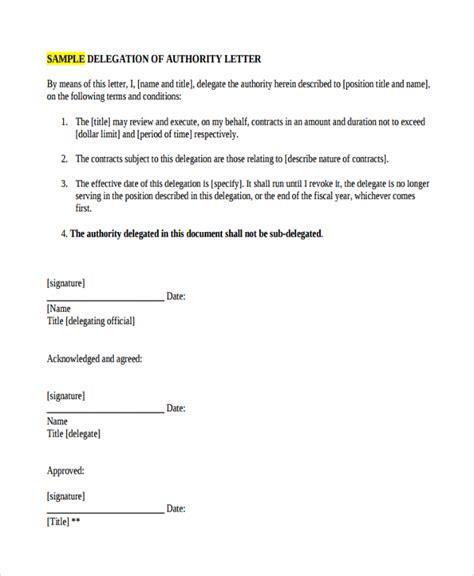 Sample Delegation Letter 9 Free Documents Download In