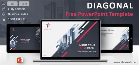 Diagonal Creative Powerpoint Template Creative Ppt Templates Free