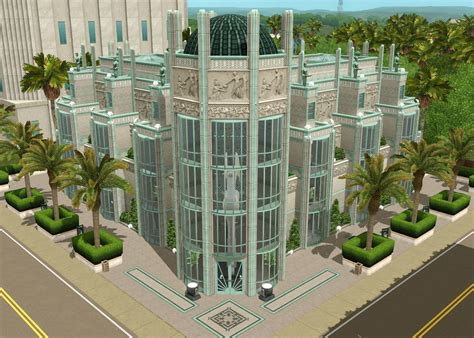 Apolonia Museum   An Art Deco themed art museum ? The Sims